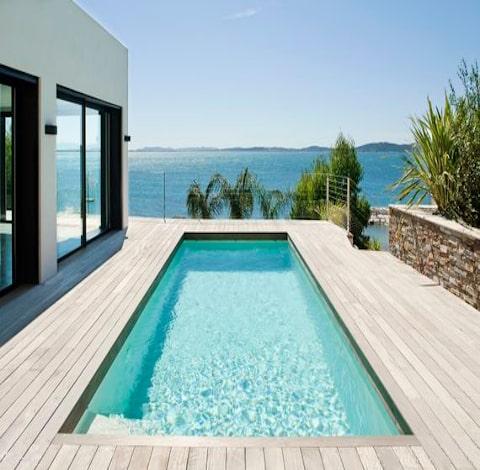 Piscine plots terrasse Lambourdes-Direct.com